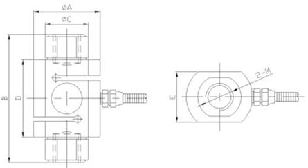 mik-lcs3柱式拉压力传感器
